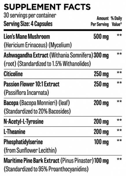 Hunter Focus Supplement Facts