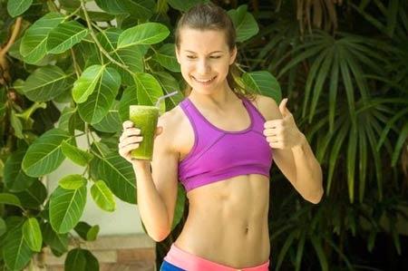 Girl with green shake