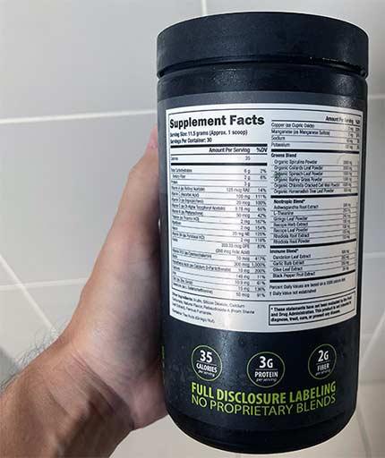 Supergreen Tonik Bottle Label