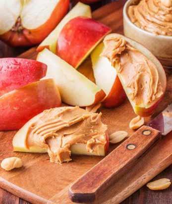 Apple peanut butter bites