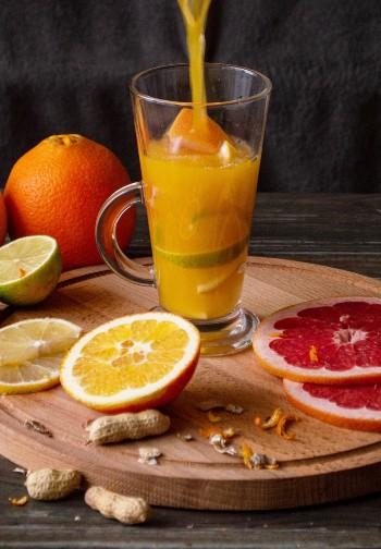 Green powder fruit juice