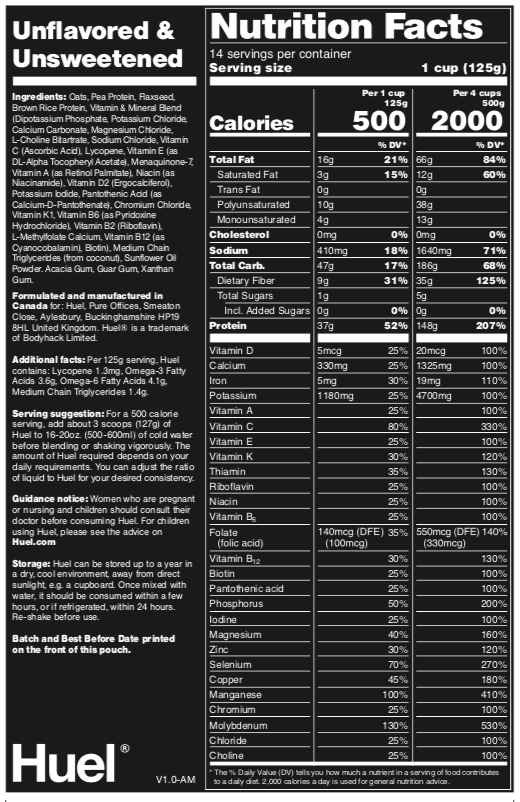 Huel nutrition facts